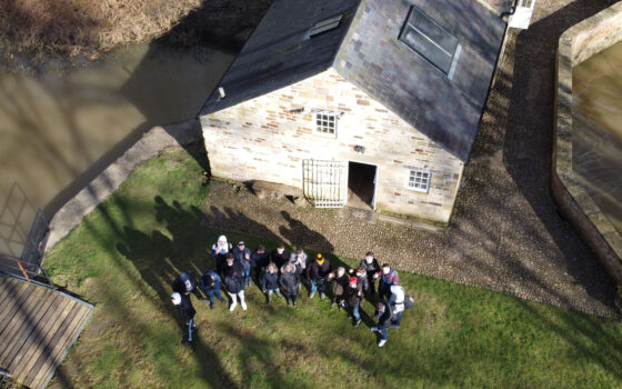 Group Howsham Mill Drone