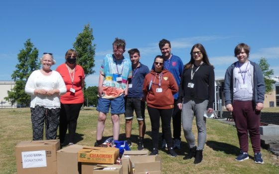 Selby College Foodbank Donation RESIZED