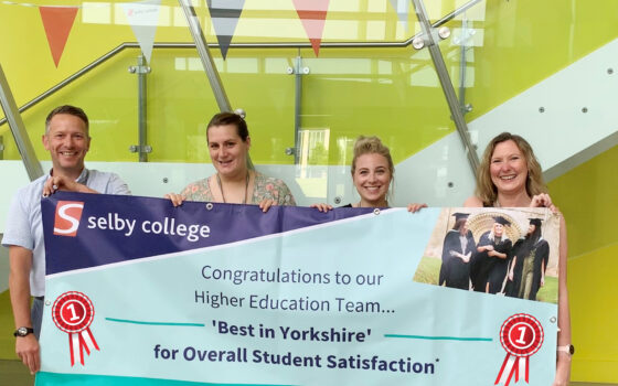 Selby College NSS Best In Yorkshire 2019