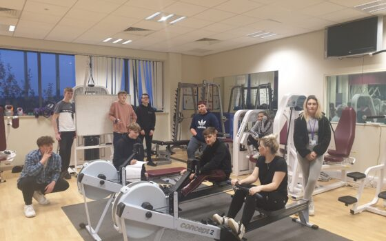 Selby College students take part in rowing challenge for RBL