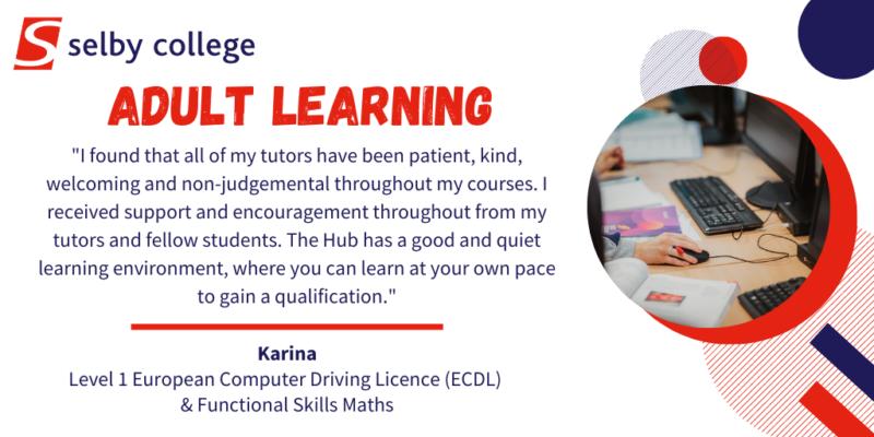 Adult Learning Testimonial Karina