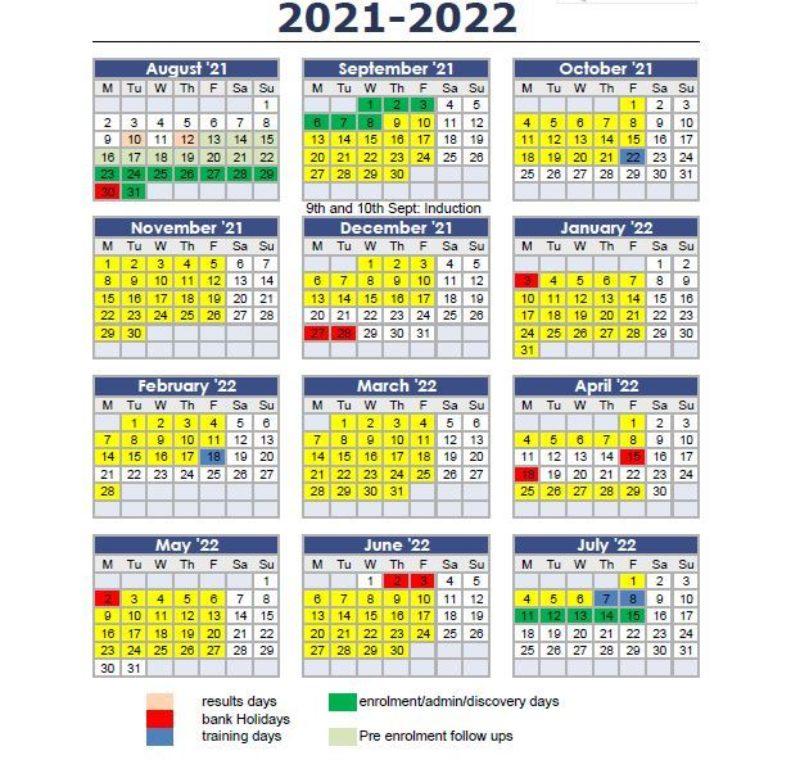 Term dates 21 22